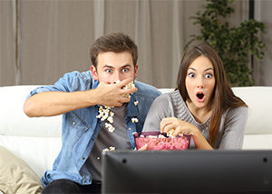 couple watching streaming TV