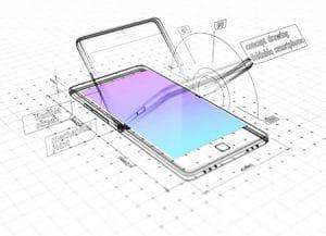 foldable phone display
