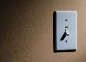energy consumption light switch off