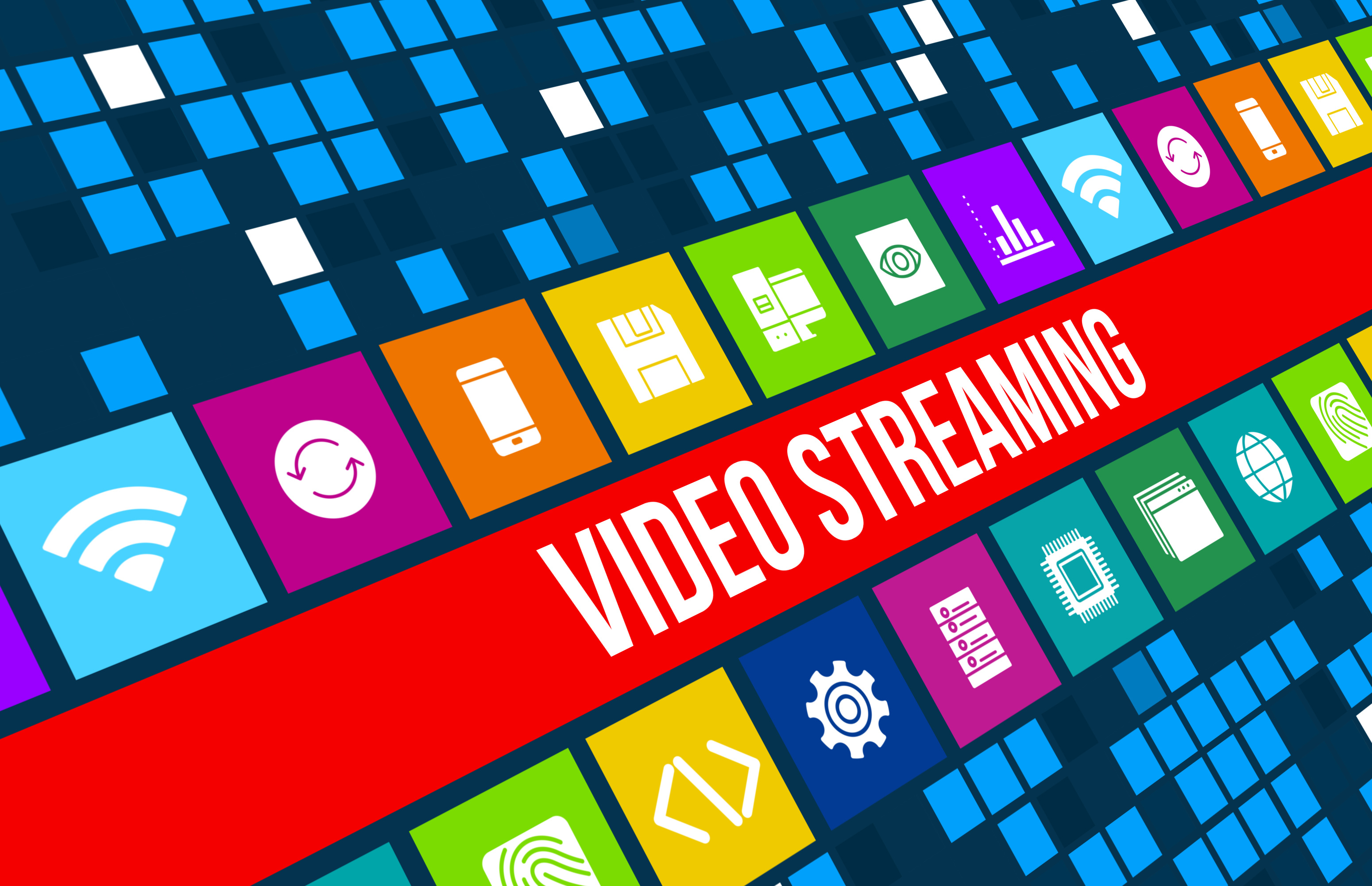 Video Streaming concept image with business icons and