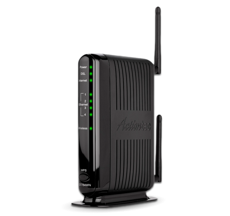 dsl modem wireless router gt784wn actiontec com