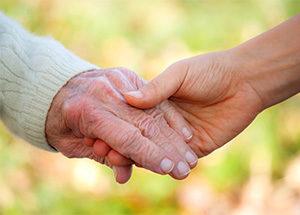 Elderly Senior hands