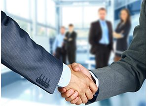 partnership shaking hands