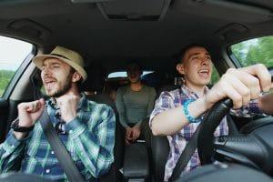 music in a car